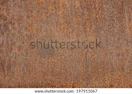 closeup of old rusty iron plate texture - stock photo