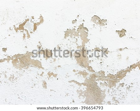 Closeup of peeling painted wall - stock photo