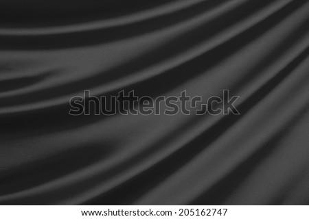 Closeup of rippled silk fabric - stock photo
