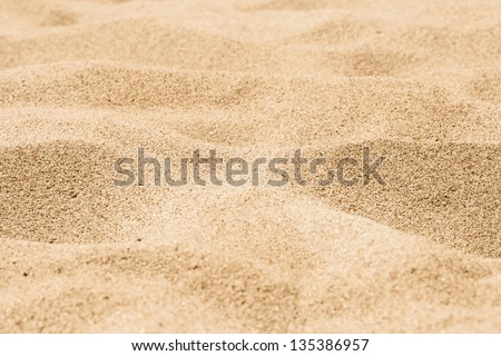 closeup of sand of a beach - stock photo
