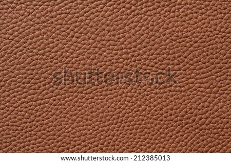 Closeup of seamless brown leather texture for background - stock photo