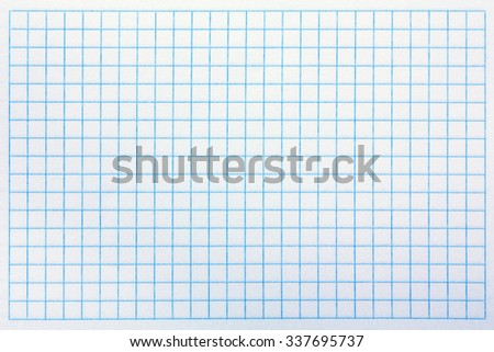 Closeup of squared notebook paper for your design - stock photo