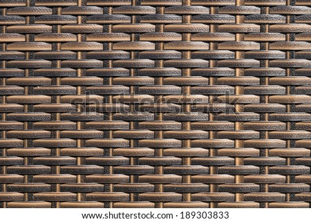 closeup of synthetic rattan weave texture as used on outdoor garden furniture  - stock photo