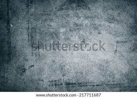 Closeup of textured blue tone wall - stock photo
