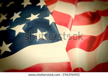 Closeup of the flag united states - stock photo