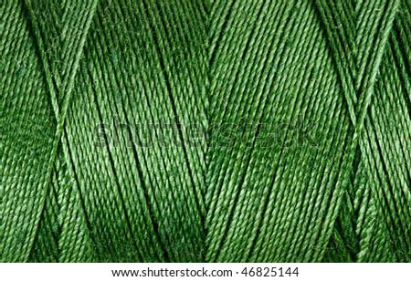 Closeup of the texture of threads on the coil - stock photo