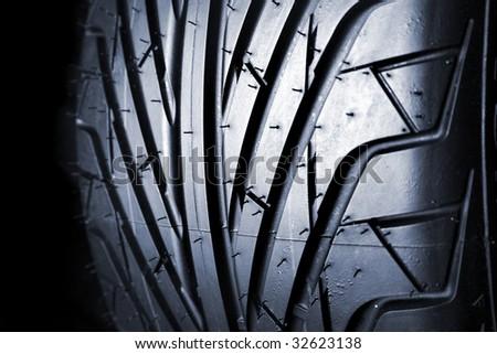 Closeup of tire tread - stock photo