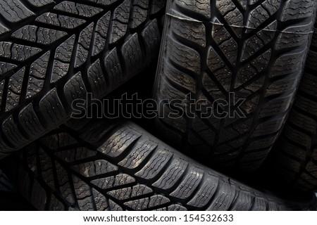 Closeup of tires - stock photo