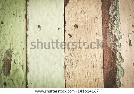 closeup of vintage wood planks texture, can be used for background - stock photo