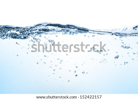 closeup of water waves isolated on white - stock photo