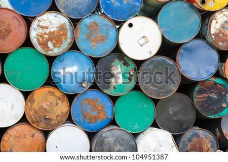 Closeup old tanks - stock photo