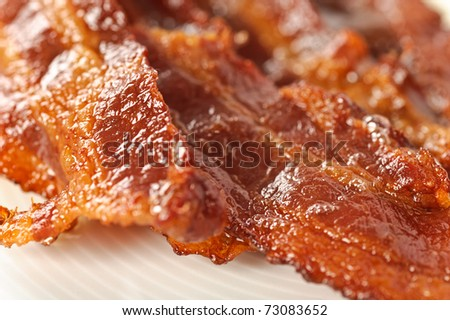 Closeup on bacon - stock photo