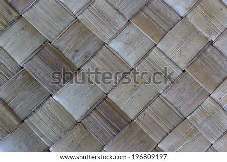 Closeup palm leaf mat a pattern.part 4 - stock photo