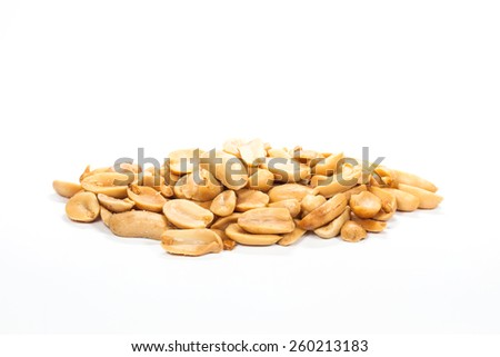 Closeup Peanuts - stock photo