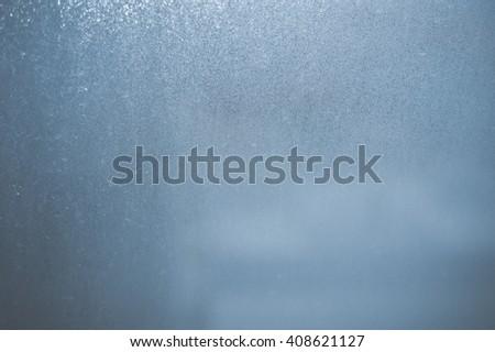 Closeup photo of fogged window glass background - stock photo