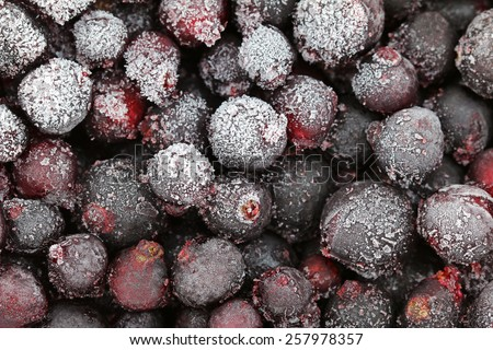 Closeup photo of Frozen berries, Black Currant - stock photo