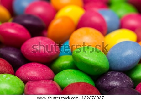 Closeup Photo Of Multicolored Fruit Flavored Candies - stock photo