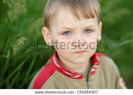 closeup portrait - stock photo