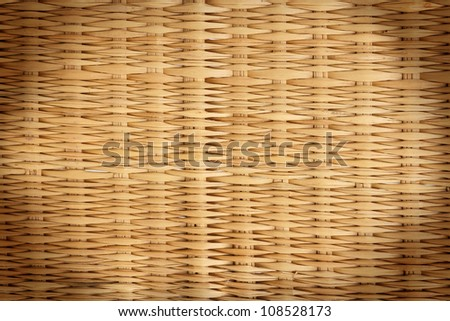 Closeup rattan wicker texture - stock photo