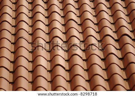 closeup shot of patterns in a roof top - stock photo