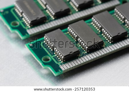 closeup SIMM 72-pin RAM - stock photo
