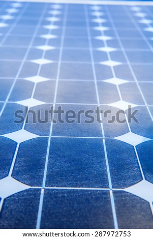 Closeup solar panel renewable electricity use in the industry. - stock photo