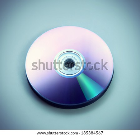 Closeup stack of few compact discs cd CD DVD - stock photo