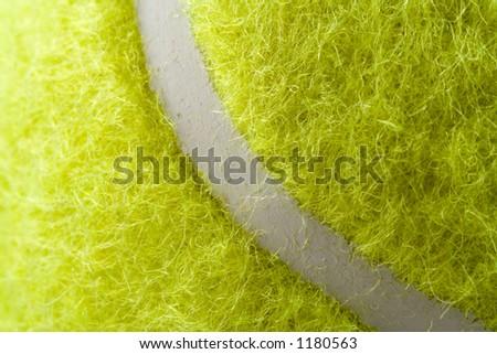 Closeup tennis ball - stock photo