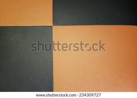 Closeup texture of brown and black leather for background