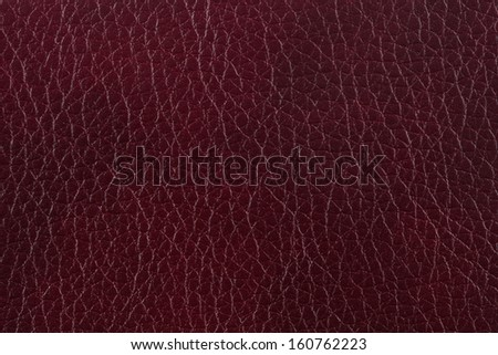 Closeup texture of brown leather for background - stock photo