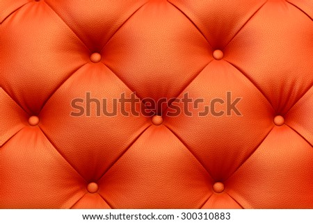 Closeup texture of vintage leather sofa for background - stock photo