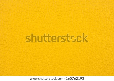 Closeup texture of yellow leather for background - stock photo