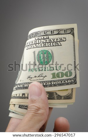closeup The United States of America Dollar bills (US Dollars)  - stock photo