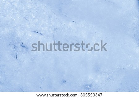 closeup to blue ice background texture - stock photo
