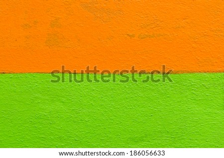 Closeup two color cement wall for background - stock photo