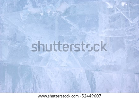 Closeup view of Ice wall, background - stock photo