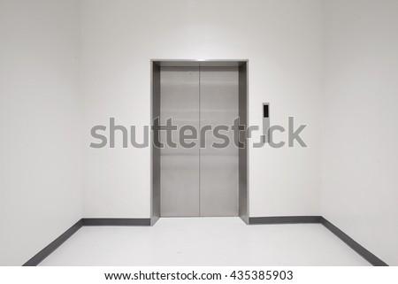 Closing elevator doors - stock photo