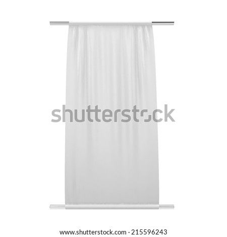 Cloth banner. 3d illustration isolated on white background  - stock photo