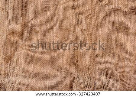Cloth burlap large photomade of natural materials, environmentally friendly raw materials - stock photo