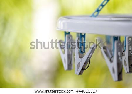 cloth clip - stock photo