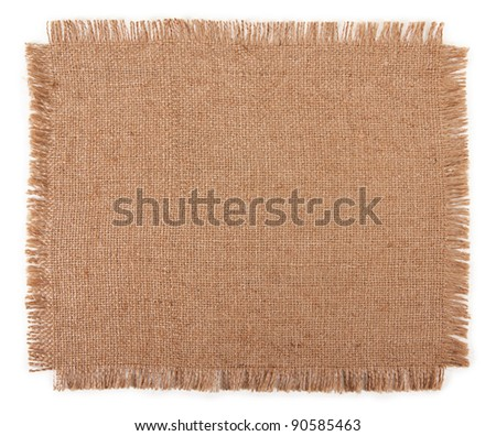 cloth sack isolated on white background - stock photo