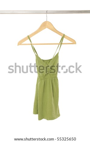 clothe on the hanger - stock photo