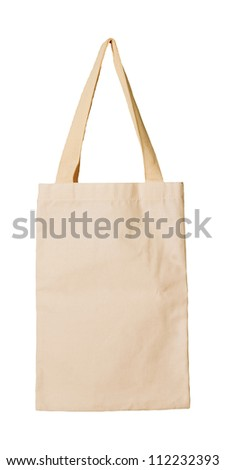 clothes bag isolated white background - stock photo