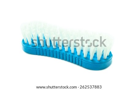 clothes cleaning brush - stock photo