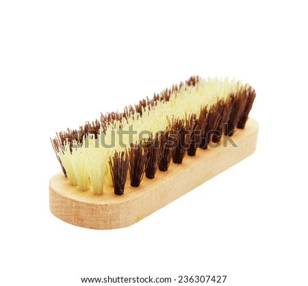 clothes cleaning brush isolated on white background - stock photo