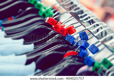 Clothes hangers sizes - stock photo