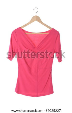 clothes on a hanger isolated - stock photo