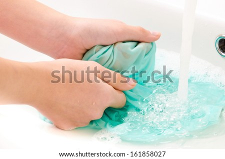 clothes to wash hands - stock photo