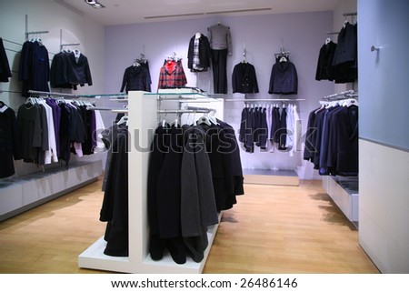 clothing department - stock photo