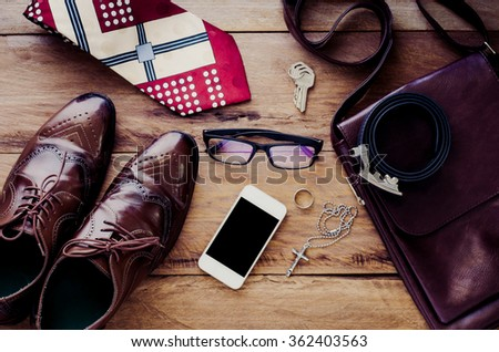 Clothing for mens - tone vintage - stock photo